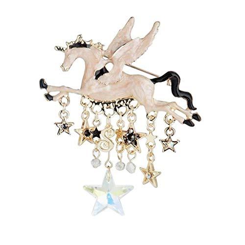 TAO Broches Broche de Niña, Forma de carrusel Retro Europea y Estadounidense, Vestido de joyería en el Pecho, Moda Temperamento Bufanda de Seda Hebilla, Regalo de cumpleaños