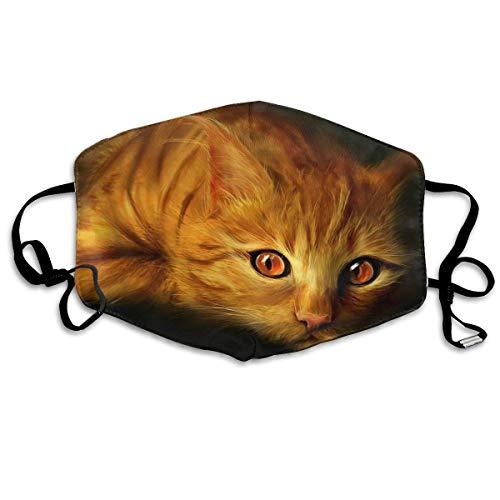 Halloween Rote Augen Katze Zeichnung Erwachsene Drucken Schutz Mode Gesichtsmaske