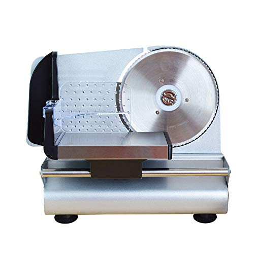 Elektrischer Allesschneider Brotschneidemaschine Edelstahl Wurstschneider Universalwellenschliff, Schnittstärke 0-15 Mm Für Massive Beef Vegetable Fruit