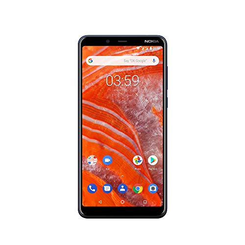 Nokia 3.1 Plus Smartphone (15,24 cm (6 Zoll) HD+ Display, 13+5MP Dual-Hauptkamera, 8MP Frontkamera, 2GB RAM, 16GB interner Speicher, Android One) blau