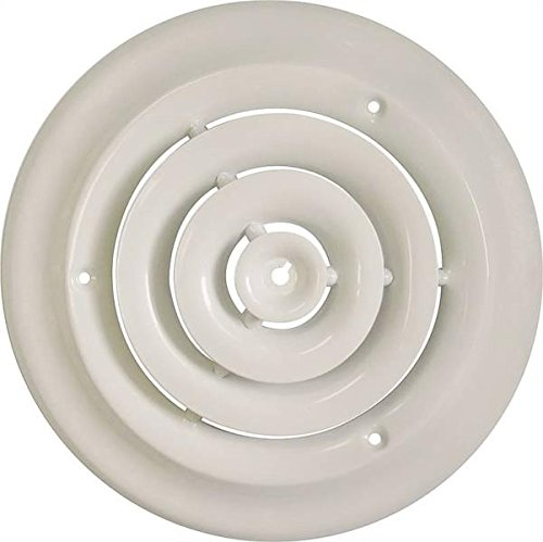 Rocky Mountain Goods Round Ceiling Diffuser with Installation Kit - Create a more consistent flow of air throughout room - Includes screws for install - Solid metal design - Premium finish (6')