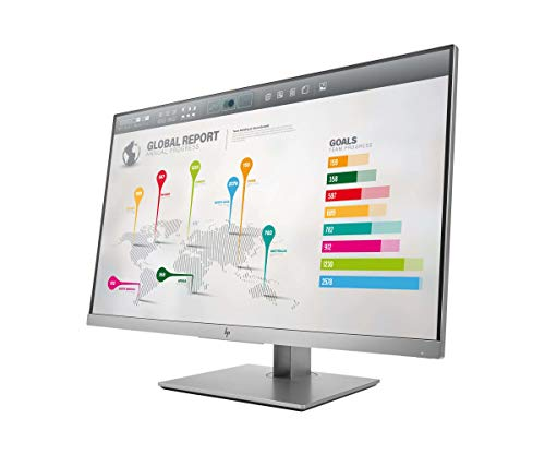 HP EliteDisplay E273q (27 Zoll / QHD) Business Monitor (HDMI, DisplayPort, VGA, USB-C, Pivotfunktion, Reaktionszeit 5ms, 60Hz) silber - 2