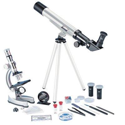Eduscience TM237 900X - Kit de microscopio y telescopio astronómico para Ciencias