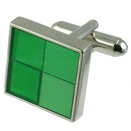 Boutons de manchettes Boutons de manchette carré vert~Fashion Cufflinks for men Pochette Cadeau Sélectionner