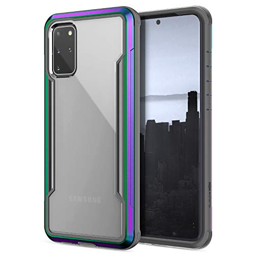 X-Doria Defense Shield Aluminum Case for Samsung Galaxy S20+ Compatible with Qi Wireless Charging (Drop Test 3m) Iridescent