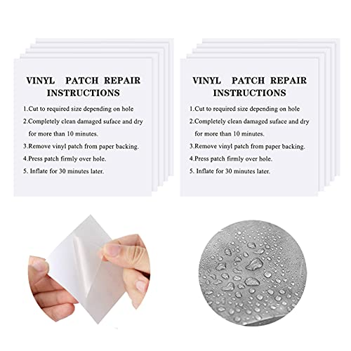 kuou 20 Pcs TPU Tent Repair Patches, Transparent Inflatable Pool Patch...