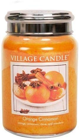 Easy-to-use Village Candle Orange Cinnamon 2021 model 26-Ounces 3 of Pack