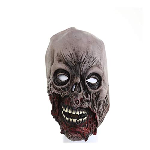 Z-GJM Halloween Maske Halloween Horror Gummimaske/Rotten Face Zombie Maske/Blood Face Zombie Screaming Death Devil Mask