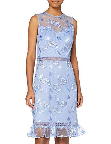 Chi Chi London Damen Chi Ashtyn Dress Kleid, blau, 36 EU/10 UK