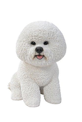 Vivid Arts XRL-BICH-B Bichon Frise Hund, Kunstharz Gartendeko