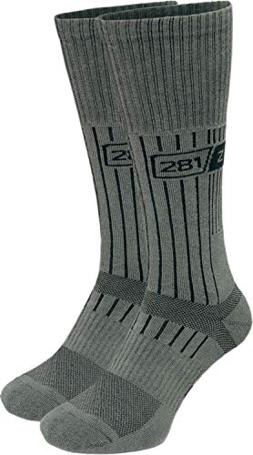 281Z Military Boot Socks - Tactical Trekking Hiking - Outdoor Athletic Sport (Foliage Green)(Large 2 Pairs)