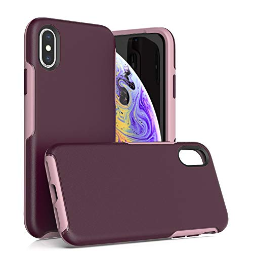 Krichit Ongoing Series Compatible with iPhone X & iPhone Xs Case, Anti-Drop and Shock-Absorbing case Compatible withiPhone X, Xs, 10 Case (Purple)