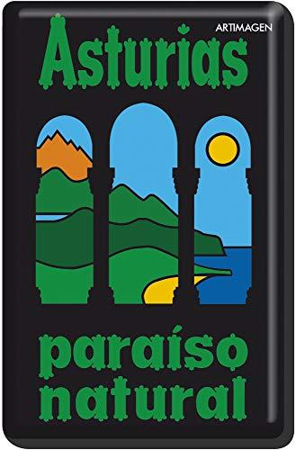 Artimagen Imán Paraiso Natural Asturias 45x70 mm.