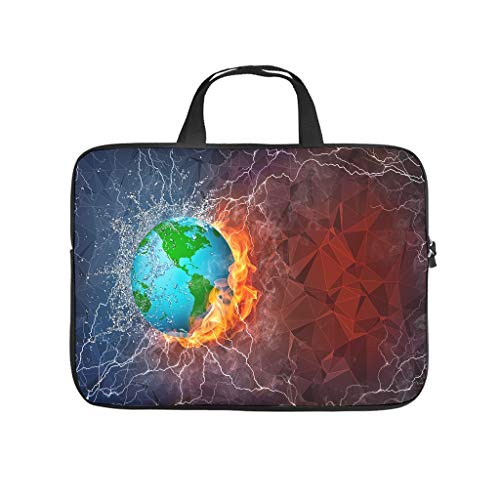 Laptop Bag Earth Waterproof Fashionable - Computer Bag Compatible with 13-15.6 Inch Notebook