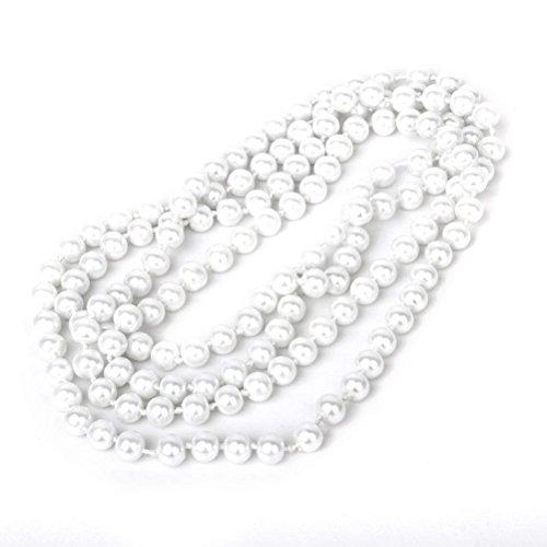 WINOMO Mode Perlenkette Perlen Flapper Perlen Bead Style Long Pullover Kette Halskette