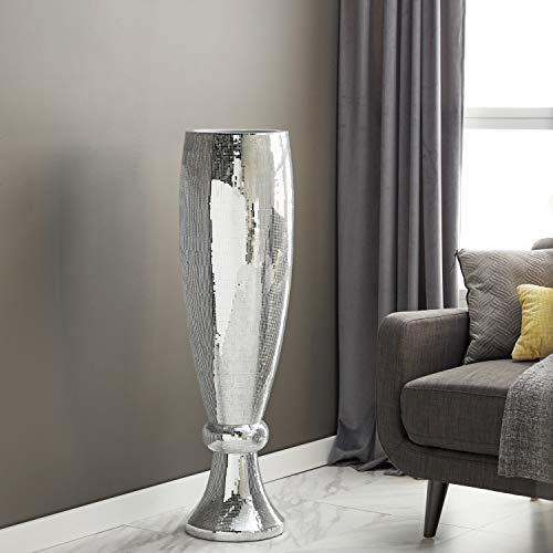 Deco 79 Polystone Mirror Mosaic Vase, 12 by 48-Inch