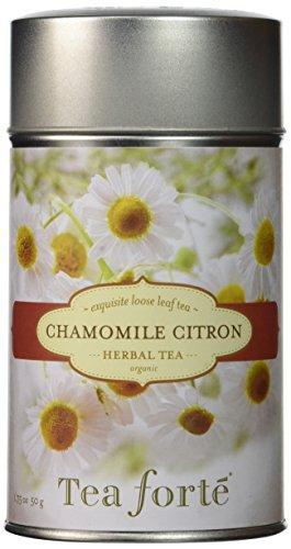 Tea Forte Chamomile Citron Infusión Bio | Infusion Manzanilla Limón | Caja de regalo 50 gr by Tea Forté