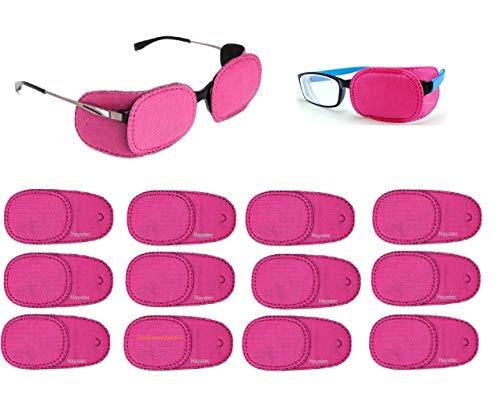 Hayatec - Set di 12 toppe per occlusione medica, per bambini e occhiali, per trattare l'ambliopia dell'occhio pigro, un disturbo oculare, 6 paia, per bambini