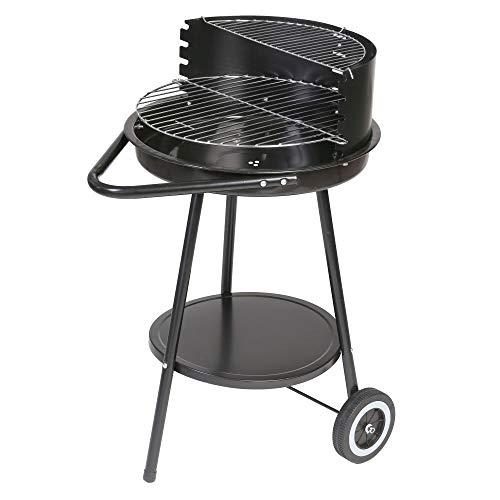Barbacoa de carbón con Parrilla de Acero Negra de 40x70x78 cm - LOLAhome