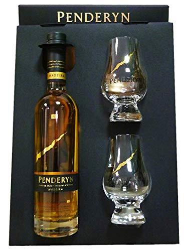 Penderyn GP Penderyn Madeira + 2 Gläser 46% vol Single Malt Welsh Whisky Spirituose (1 x 350 ml)