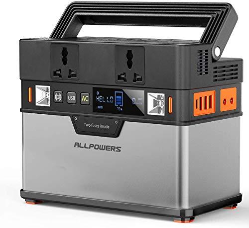 ALLPOWERS Estación de energía portátil 288Wh 78000mAh 300W Generador Solar Portátil Exterior Batería de Litio de Respaldo de Emergencia para Acampar al Aire Libre Laptop smartphone