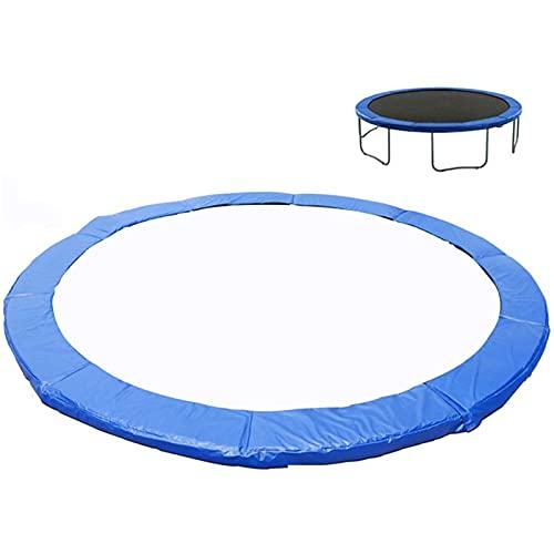 TXDTX-Raincoat Almohadilla de repuesto para trampolín, almohadillas de protección de seguridad, protección de resorte, cubierta redonda impermeable para trampolín, azul, 12 pies