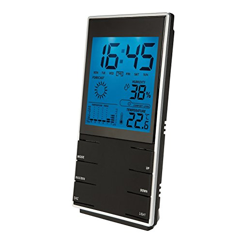 Clip Sonic Technology SL204 Station météo hygromètre Noir