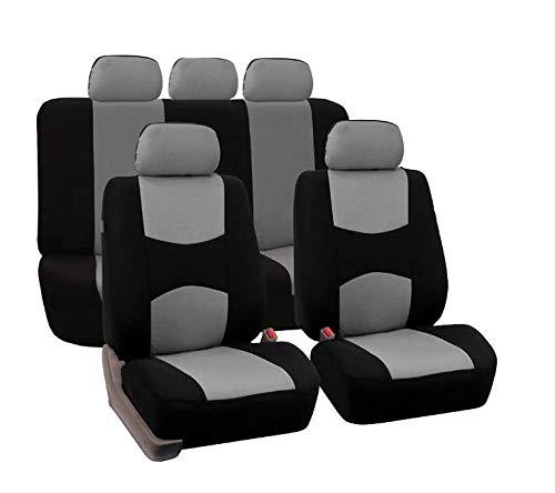 Mioke Sitzbezüge Auto Schonbezüge Universal,Autositzbezüge Set Auto-Zubehör Innenraum (Grau)
