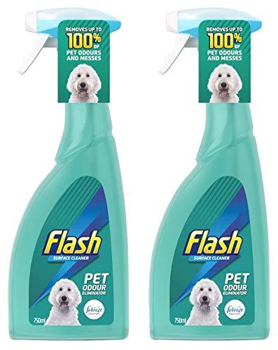 Flash Surface Cleaner Pet Odor Eliminator Spray 750ml, 2-Pack (Packaging...