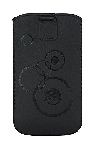 Gütersloher Shopkeeper Étui de Protection Mince avec Fermeture Velcro Noir Motif Cercles