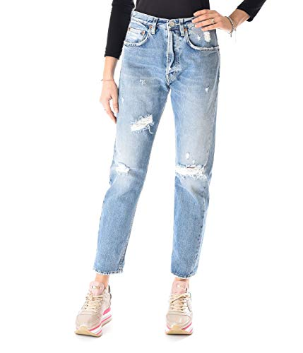 Haikure Jeans Donna Denim Chiaro Oregon Boyfriend, 25