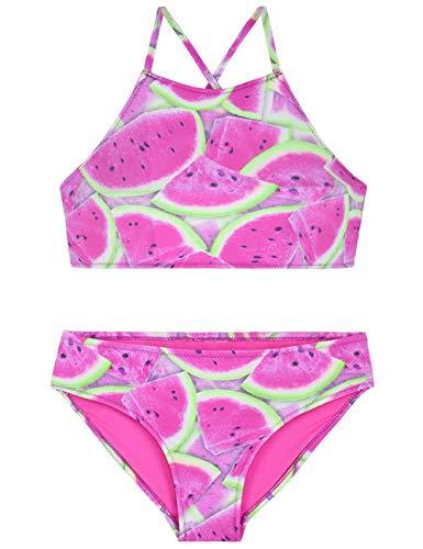 Septangle Mädchen Bikini Tankini Set Watermelon Druck Badeanzug 2 Badeanzug Top mit Bottom für 8-10 Jahre