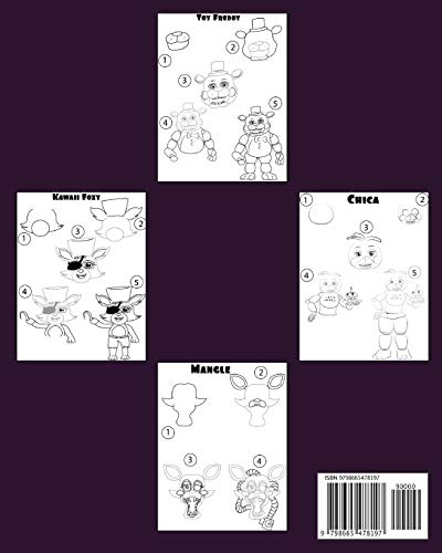 Five Nights At Freddy's How To Draw: FNAF Drawing Guide Learn How to Draw Your Favorite Characters, FNAF Coloring Book