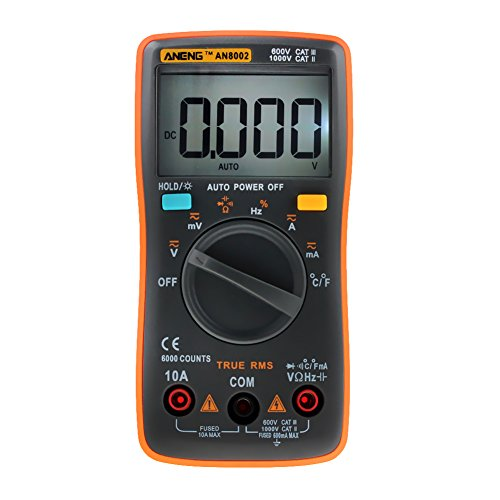 AN8002 Digital Multimeter 6000 Counts AC/DC Ammeter Temperature Tester