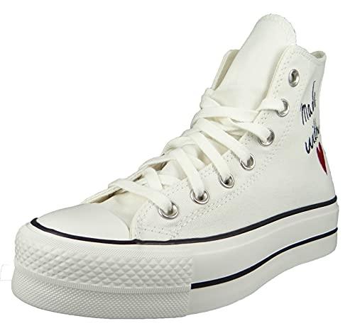 Converse 571119C, Zapatos de Tenis Mujer, White, 38 EU
