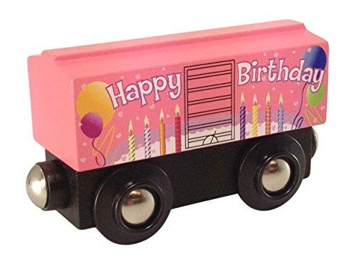 Choo Choo Track & Toy Co. Pink Birthday Boxcar Wooden Train