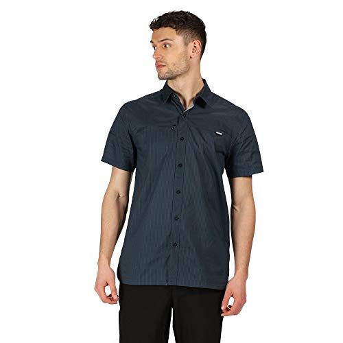 Regatta Chemise Stretch HONSHU V légère et Respirante avec aération au Dos et Poche Poitrine Shirts Homme, Dark Denim, FR : 3XL (Taille Fabricant : XXXL)