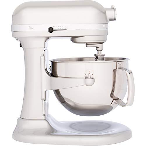 Kitchenaid Professional 600 Stand Mixer 6 quart, Sugar Pearl (Renewed)