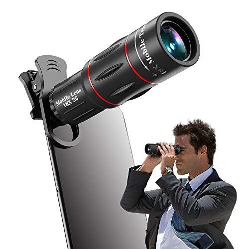 Apexel Universal 18X Clip-On Teleobjetivo Telescopio Cámara Lente de Zoom de teléfono móvil para iPhone X / 8 7 Plus / 6S Samsung Galaxy S8 S7 Huawei y la mayoría de Android Smartphone