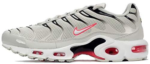 Nike Air Max Plus Herren Running Trainers 852630 Sneakers Schuhe (UK 6 US 7 EU 40, Light Bone White Black 030)