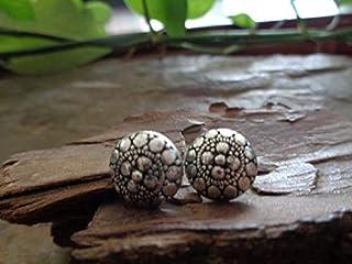 ETHNO PLUG bellissimi orecchini decorati, orecchini a bottone, aspetto etnico tribale