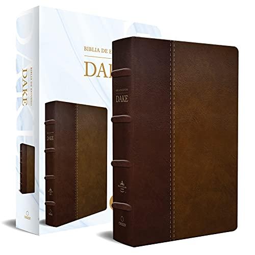 Rvr 1960 Biblia de Estudio Dake, Tamaño Grande, Piel Duotono Marrón / Spanish RV R 1960 Dake Study Bible, Large Size, Duotone Brown Leather