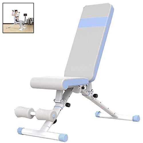 HFJDK Tabouret d'haltère réglable, Banc Sit-up Planche Musculaire Abdominale Pliable Multifonction Équipement de Fitness à Domicile Artefact de Perte de Poids