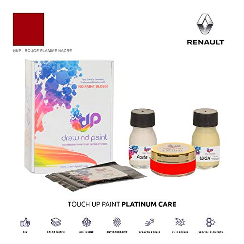 DrawndPaint for/Renault Captur/Rouge Flamme Nacre - NNP/Touch-UP Sistema DE Pintura Coincidencia EXACTA/Platinum Care