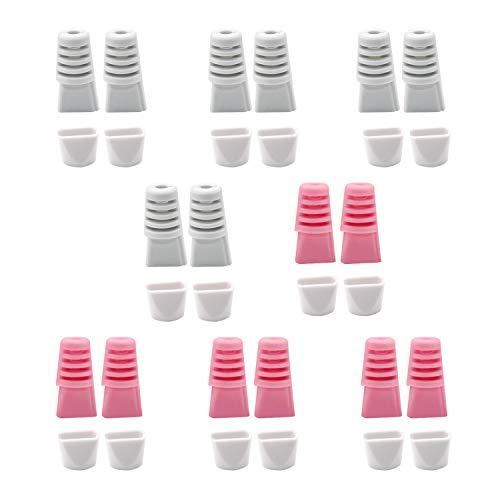 YFaith 16 Stück Kabelschoner, Typ C Kabelschutz Set, Maus Kabelschutz, Ladegerät Saver Kabel, Anzug für alle Handys, Verhindert Bruch, 2 Farben (Grau, Rosa)