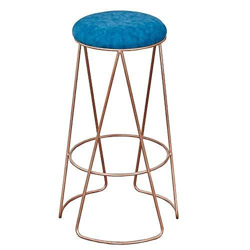 JIAYIBAO Bar Stool Modern Minimalist High Stool Metal Frame Bar Chair Pu Seat Bearing Weight 200kg Seat Height 75cm