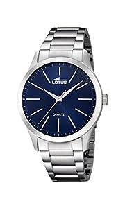 Lotus Watches Reloj Análogo clásico para Hombre de Cuarzo con Correa en Acero Inoxidable 15959/7