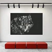 装飾的なキャンバスの絵画アートブラックウルフ動物の写真壁のポスターリビングルームのアート絵画クアドロス70x100cmフレームレス