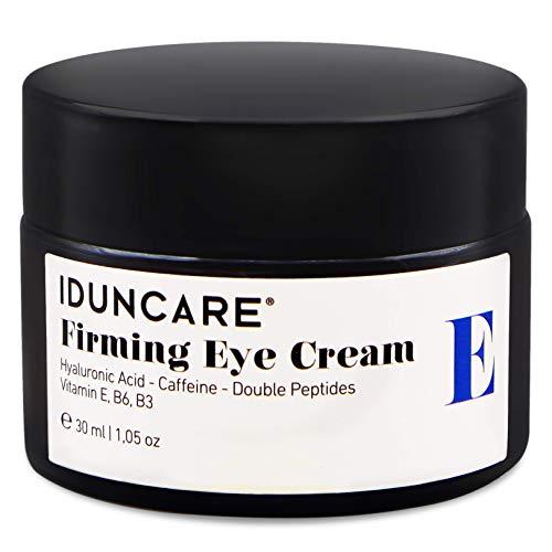 Iduncare Straffende Augencreme - Anti Aging Augenpflege gegen geschwollene Augen, hängende Augenlider, Augenringe & Falten - Augencreme mit Hyaluron & Koffein - 30 ml