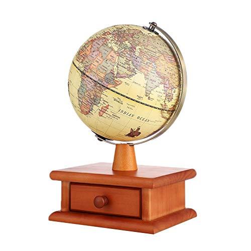 WDDqzf ornament Adornos Escultura Figurilla 20 Cm Mundo Globo Adornos Mapa De Luz Led con Soporte De Madera Oficina En Casa Decoración De Escritorio Niños Niños Geografía Juguetes Educativos